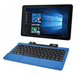RCA Cambio 10.1' 2-in-1 Tablet 32GB Intel Quad Core Windows 10 Blue Touchscreen Laptop Computer with Bluetooth and WiFi