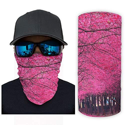 CCMugshop Máscara de pasamontañas con estampado de bosque Rosy, color blanco, talla única