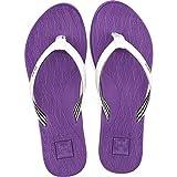 KuaiLu Chanclas Mujer Comodas Piel Verano Playa Piscina Ultraligera Sandalias de Dedo Planas Moda Caminar Antideslizante Yoga-Espuma Zapatillas Morado 40