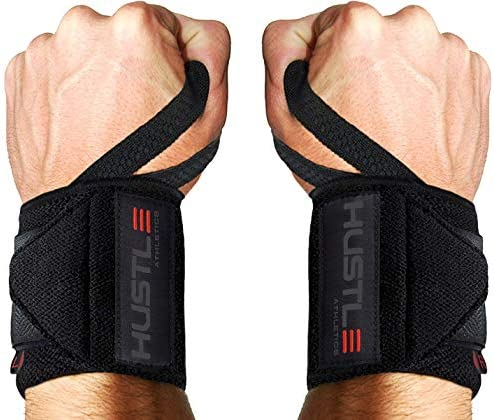 Hustle Athletics Wrist Wraps Weightlifting Best Support for Gym Crossfit Brace Your Wrists to product image