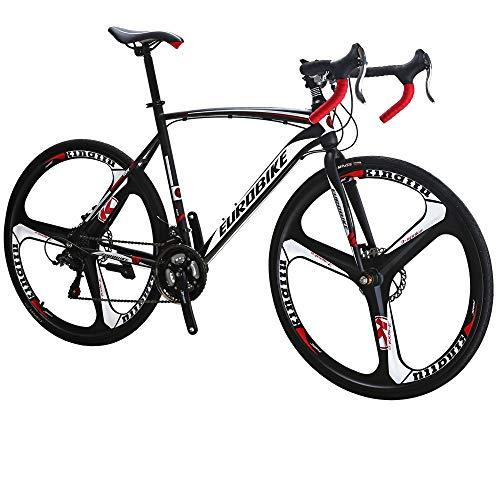 Eurobike 700C Road Bikes for Men and Women 3 Spoke Wheels Racing Bicycles (54cm frame)