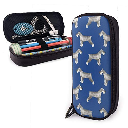 XCNGG Schnauzer Dog Pen Case Pencil Bag Portable Pencil Pouch Stationery Holder Storage Organizer Big Capacity for Pens Pencils Markers School Supplies Students Office Workers