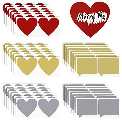 Scratch Sticker Scratch Off Aufkleber Etiketten 70 Stück Rubbelsticker Dialogfeld Aufkleber Herz Rubbel Etiketten für Einklebebuchbuch Postkarte Überraschung DIY Rubbellose und Hochzeit