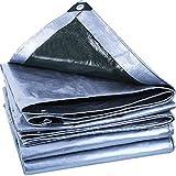 ZMQ Lona Impermeable Exterior Gruesa Lona Impermeable al Aire Libre de la sombrilla de protección Solar Aislamiento Lienzo Lona Impermeable (Color : Silver, Size : 9.9x16.5ft/3x5m)