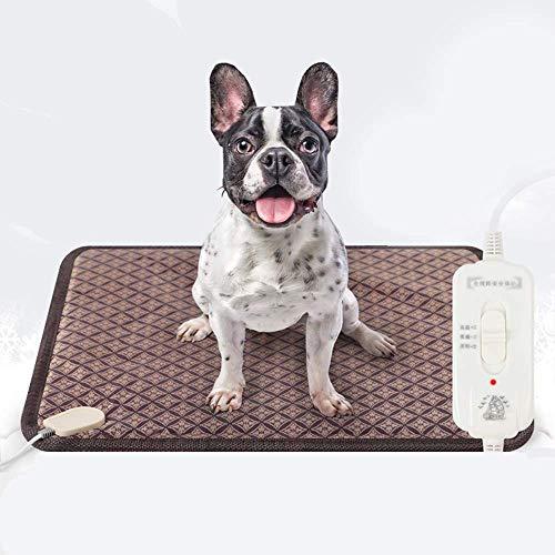 QIANG Alfombrilla De Calefacción Eléctrica para Perro Y Gato, Ajustable, Resistente Al...