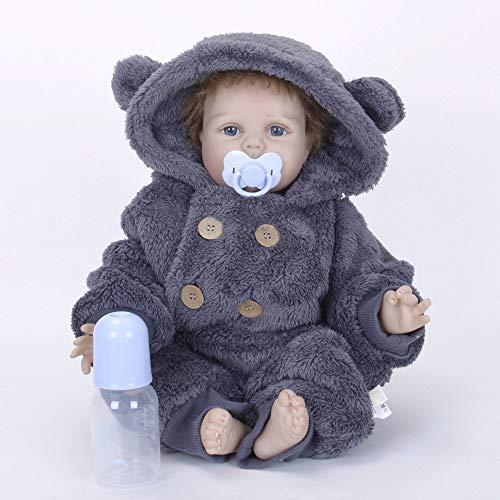 Nicery Reborn Baby Doll Simulación Suave Silicona Vinilo Magnético Boca Juguete Realista Niño Niña Ojos Abiertos