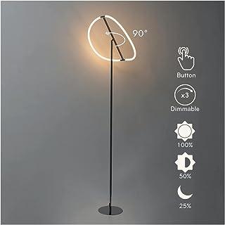KOSILUM - Lampadaire LED Dimmable design courbé orientable - Molfaro - Lumière Blanc Chaud Eclairage Salon Chambre Cuisine...