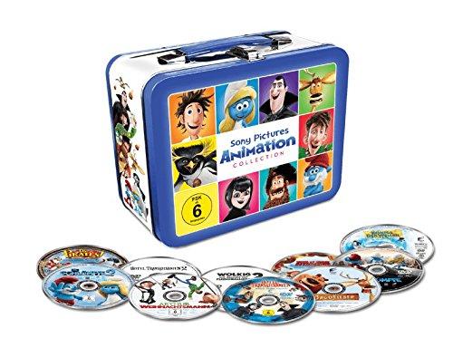 Animation 10 Filme Collection - Exklusiv geprägte Kids Lunchbox mit 10 Filmhits im limitiertem Koffer - 10 x DVD u.a. Die Schlümpfe, Hotel Transsilvanien, Wolkig mit Aussicht auf Fleischbällchen usw