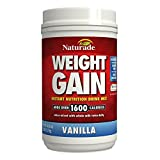 Naturade Weight Gain Instant Nutrition Drink Mix, Vanilla, 40 OZ (Pack Of 2)