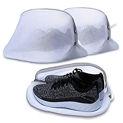 AJOXEL Premium Laundry Mesh Bag for Shoes/Sneaker, Multi Protection Wash Laundry Net With Durable Zipper Laundry Bag for Travel - 3Pack