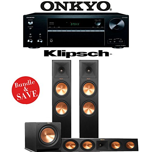 Find Discount Klipsch RP-280F 3.1-Ch Reference Premiere Home Theater System with Onkyo TX-NR676 7.2-...
