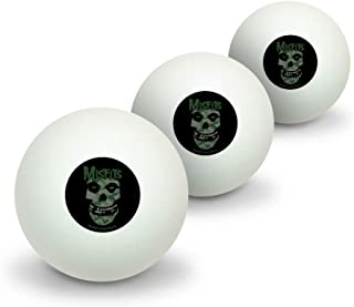 GRAPHICS & MORE Misfits Camo Fiend Skull Logo Novelty Table Tennis Ping Pong Ball 3 Pack