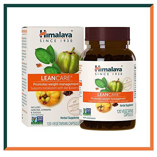 Himalaya LeanCare con Gymnema & Guggul | Suplemento Natural para el Control de Peso | Mantiene un Metabolismo Saludable | 120 Caps, 600 mg (LeanCare - Weight Control)
