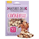 Natures Deli Chicken And Fish Sushi Bites - High Protein, Natural Flavour, Nutritious, Low Fat Dog Treats - 100g