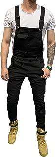 Men's Denim Bib Overalls Slim Fit Dungaree Jeans Jumpsuits Rompers Pants Suspender Trousers