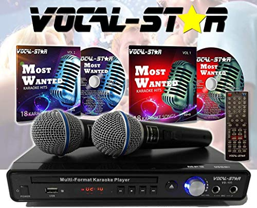 Vocal- Star VS- 400 CDG DVD HDMI -  Karaoke con 2 micrófonos y canciones