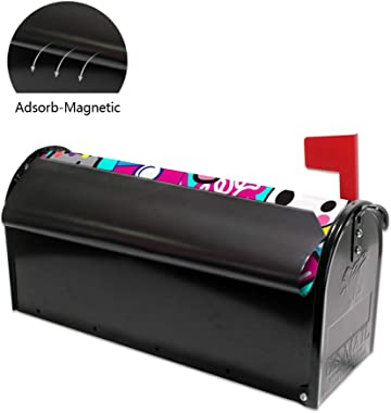 ZhiMi Mailbox Stickers Magnetic PVC Waterproof Sunscreen Fully Fit The Mailbox 2 Sizes Group of Wtickers of Different Types