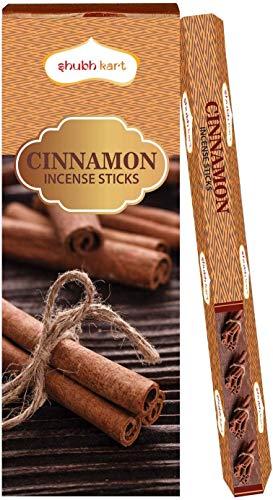 Shubhkart - Varillas de incienso (aroma a canela, 6 tubos dentro de la caja) 120 varillas