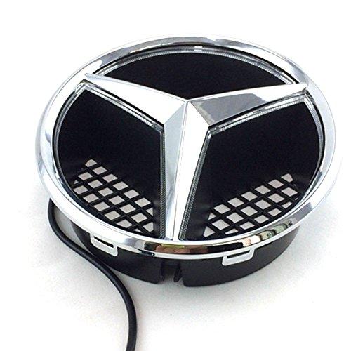 Car Front Grille Star Emblem LED Logo Works with Mercedes Benz 2006-2013 Illuminated LED Badge Light White