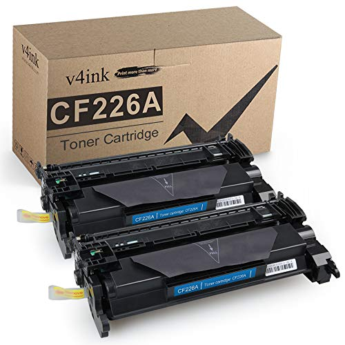 V4INK 2-Pack Compatible 26A Toner Cartridge Replacement for HP 26A CF226A Toner Cartridge Black Ink for HP Laserjet Pro M402n M402dn M402dne M402dw, HP Pro MFP M426fdn M426fdw M426dw Printer