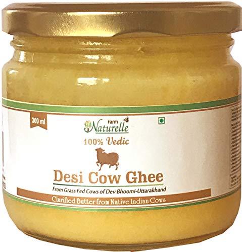 Farm Naturelle Desi Cow Ghee - 100 % Pure Ghee From A2 Milk - 300 ML (10.14oz)