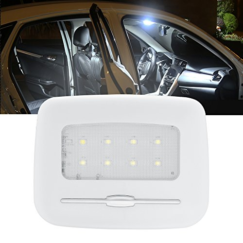 BOGAO Luces LED para Interior de Coche, Luces traseras, Luces de Lectura de Coche, Luces de Placa, luz Nocturna, Luces de Puerta, Brillo Ajustable, Color Blanco, 6500 K