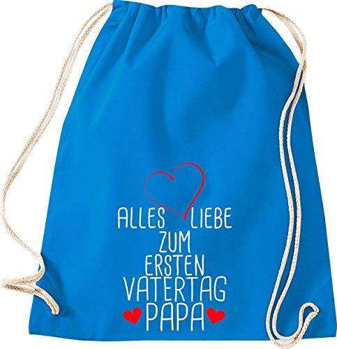 Shirtinstyle Bolso para Deporte, Todo Amor para Primera Día del Padre Papa, Mama Mami Papatag Papa Papi, Gimnasio Saco Bolso Bolsa - Sapphire