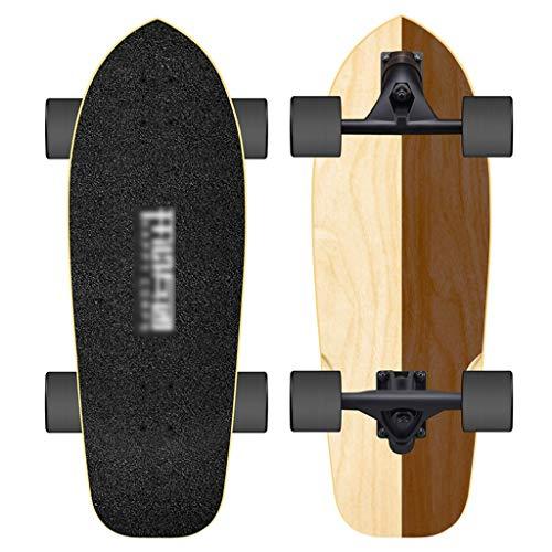Skateboarden Land Surfing Allrad Männliche Und Weibliche Anfänger Fortgeschrittenes Ahornholz, Lenkbügel Brush Street Single Rocker Big Fish Board (Color : A, Size : 76 * 26cm)