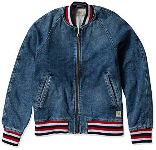 Nudie Jeans Men's Alex Bomber Jacket, Denim, 002
