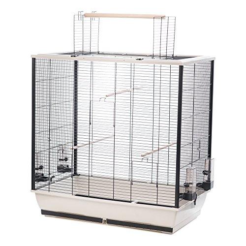 Little Friends Waldorf Cage à Oiseaux avec Ouverture sur Le Dessus Argenté 78 x 48 x 81,5 cm
