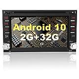 AWESAFE Autoradio 2 din Android 10.0 Universal Voiture Modèles Écran de 6.2 Pouces Supporte GPS CD DVD WiFi Bluetooth4.0 FM AM RDS USB SD AUX Commande au Volant