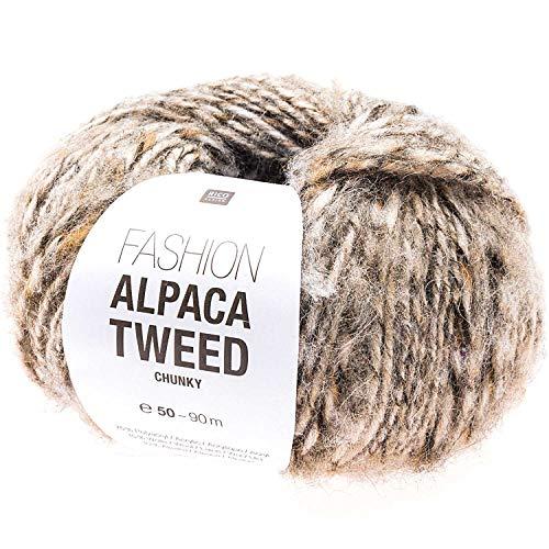 Fashion Alpaca Tweed Chunky 005 - Ovillo de lana (50 g), color beige