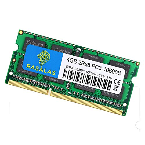 Rasalas 8GB Kit (2X4GB) PC3-10600 DDR3 1333 mhz So   dimm RAM Upgrade for AMD Intel Laptop, MacBook Pro 13/15/17 inch Early/Late 2011,iMac 21.5-inch Mid/Late 2011,27-inch Mid 2011,Mac Mini 5,1