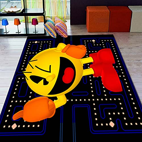 Pacman - Alfombra con motivos para sala de estar, antideslizante, alfombra para habitación de niños, regalo personalizado, alfombra temática gezcocuk-1163.2 (39 x 63 pulgadas) = 100 x 160 cm