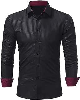 Qiyun Men's Shirts Men Autumn Winter Long Sleeve Striped Casual Shirt