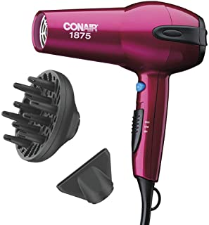 سشوار موی سرامیکی Conair 1875 Watt Ionic، Cranberry Pink - Amazon Exclusive