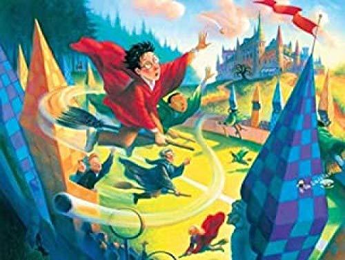 WOMGD® Cartoon Anime Legpuzzels 1000 stukjes, Vliegende bezem Houten puzzel, Entertainment Speelgoed Diy Game Houten creatief cadeau Woondecoratie