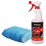 ABACUS 750 ml Glanz Spray - Lackreiniger/Trockenwäsche für Auto mit Tuch (7246)