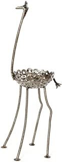 African Recycled Metal Giraffe Plant Holder Statue, Large
