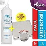AKTION: Ultraschallreiniger Konzentrat 1000ml inkl. Flaschenausgießer für jedes Ultraschallgerät – Ultraschall Reiniger für Brillen (1 Liter Classic)