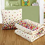 Wonderful Think Modern Linen Cotton Square 2 in 1 Dual-use Pillow Blanket 16-16 Inch Pillow & 60-40 Inch Blanket (Floral Style)