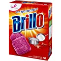 10-Count Brillo Steel Wool Soap Pads, Original Scent (Red)