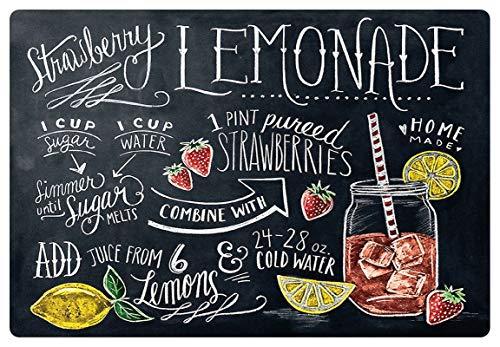 Metalen bord 30x20cm Strawberry Lemonade Home Made aardbei Limonade metalen bord