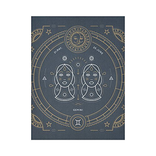 InterestPrint Tapestry Gemini Zodiac Wall Hanging Room Bedroom Dorm Home Decor Tapestrie 60X80 Inch