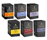 Taylors assortiti: 1 colazione inglese, 1 tè nero e bergamotto, 1 tè nero limone arancia, 1 tè nero Lapsang Souchong, 1 tè nero Assam, 1 tè verde e bergamotto - 6 x 20 bustine di tè (290 grammi)