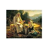 Berühmte Leinwand Bild Jesus und die Samariterin Poster