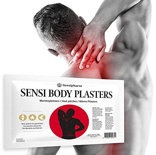 Sensipharm Sensi Body Pflasters 5 x Wärmepflaster 9x14 cm - Schmerzpflaster bei Schmerzen, Muskeln, Nacken, Schultern, Rücken, Beinen, Bauch