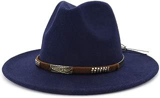 2019 Mens Womens Hats Womens Winter Fedora Hat for Women Lady Travel Wide Brim Wool Felt Fedora Hat Dad Fascinators Wide Brim Autumn Winter Church Cloth Godfather Jazz Cap