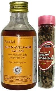 Kottakkal Arya Vaidya Sala Asanavilvadi Tailam 200ml, With Free Dilbahars Yummy Digestives Khatta Mitha Chhuhara 90gm