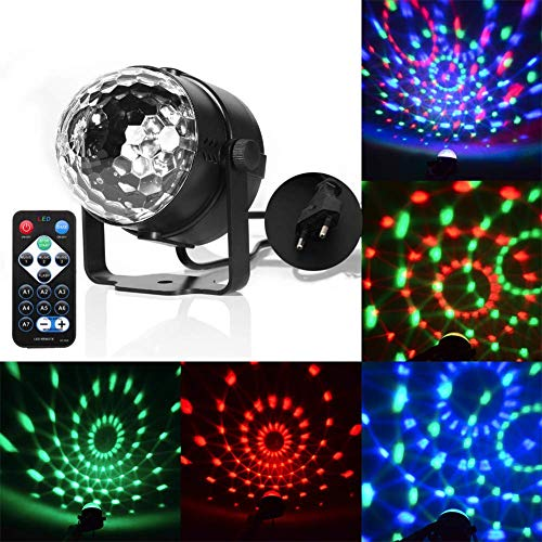 Disco Lampe, 7 Farben Rotierendes LED Projektionslicht Mit 3 Kontrollmodi, Magic Ball Flash Für KTV Bar, Dance Karaoke, Weihnachten, Hochzeiten, Clubs, Lichteffektbeleuchtung